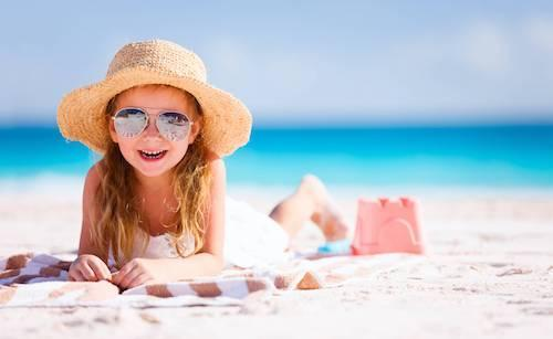 Smiling Girl on Beach | Children's Dentist Coffs Harbour