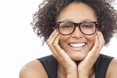 Woman With glasses smiling | Dentist Coffs Harbour
