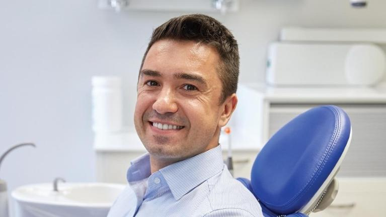 Man at the dentist in coffs harbour