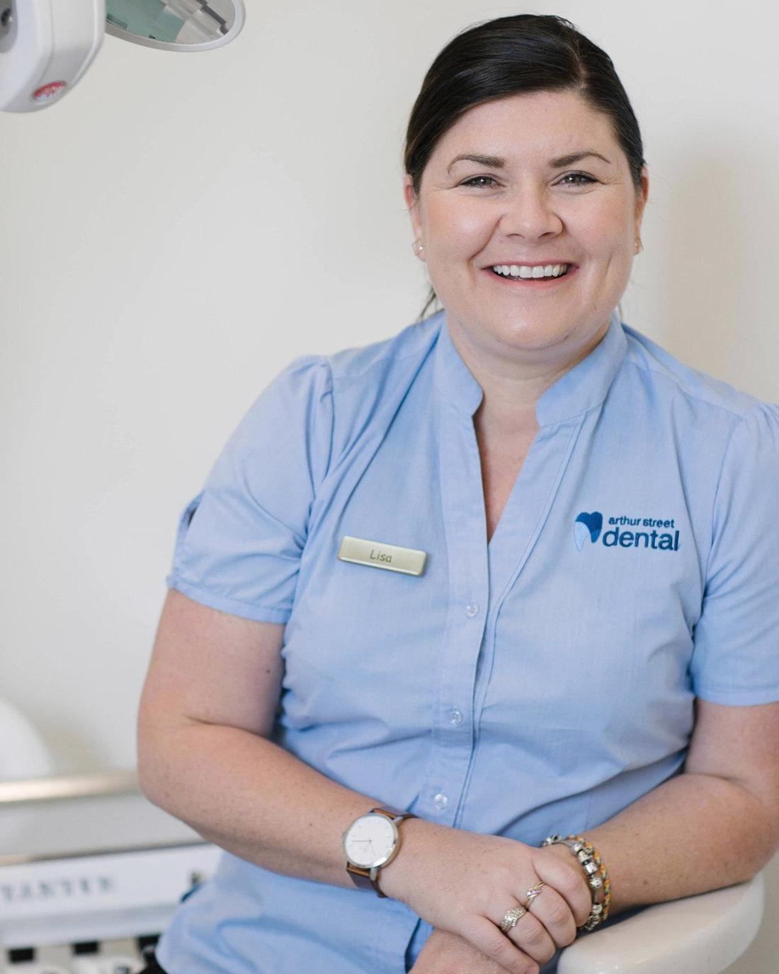lisa, our practice manager, smiles | dentist coffs harbour