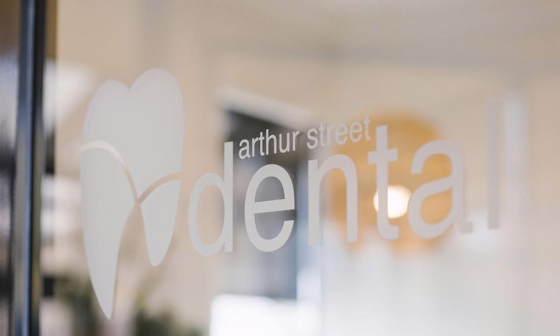 Arthur Street Dental Logo on Door | dentist coffs harbour
